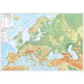 Mapa ścienna Europy fizyczna 1:4,5 mln