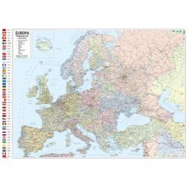 Mapa ścienna Europy polityczno-samochodowa 1:4,3 mln