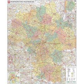 Mapa ścienna woj. Mazowieckiego administracyjno-drogowa 1:240 tys
