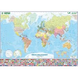 Mapa ścienna Świata polityczna 1:20 mln