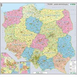 Mapa ścienna Polski administracyjna 1:1,1 mln