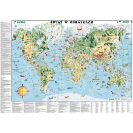 Mapa ścienna Świat w obrazkach