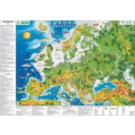 Mapa ścienna Europa w obrazkach