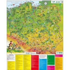 Mapa ścienna Polska w obrazkach