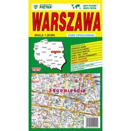 Mapa składana Warszawa plan miasta 1:26 tys.