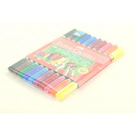 Flamastry FABER-CASTELL dwustronne 10 kolorów
