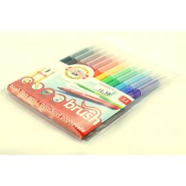 Flamastry KOH-I-NOOR pędzelkowe brush 12 kolorów
