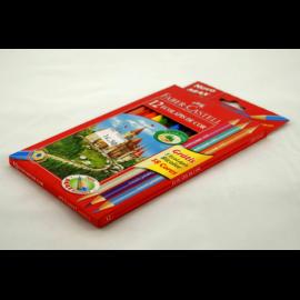 Kredki ołówkowe FABER-CASTELL zamek 12 kolorów