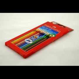 Kredki FABER-CASTEL Grip 2001 zestaw 12 kolorów