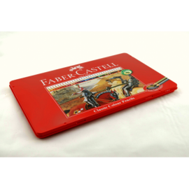 Kredki ołówkowe FABER-CASTELL rycerz 36 kolorów metalowe opakowanie
