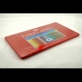 Kredki FABER-CASTEL Grip 2001 zestaw 24 kolorów w metalowym opakowaniu