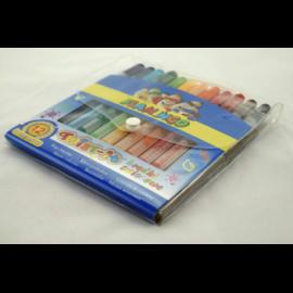 Kredki świecowe TITANUM Twist-it 12 kolorów
