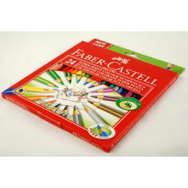 Kredki FABER-CASTEL z grubym grafitem zestaw 24 kolory