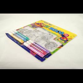 Farba witrażowa AMOS 6 kolorów + witraż