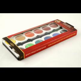 Farby akwarelowe KOH-I-NOOR 12 kolorów duże