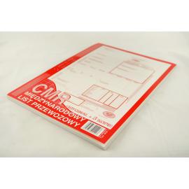 Międzynarodowy List Przewozowy CMR A4 oryginał + 3 kopie