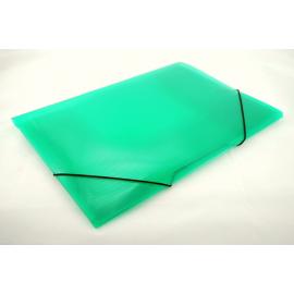 Teczka A4 na gumkę transparentna zielona