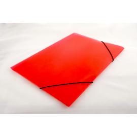 Teczka A4 na gumkę transparentna czerwona
