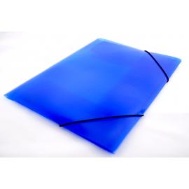 Teczka A4 na gumkę transparentna niebieska