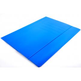 Teczka A4 na gumkę niebieska