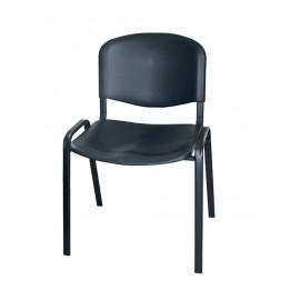 Krzesło konferencyjne ISO plastikowe czarne