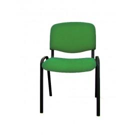 Krzesło konferencyjne ISO materiałowe zielone