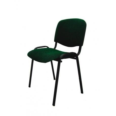 Krzesło konferencyjne ISO materiałowe zielono-czarne splot