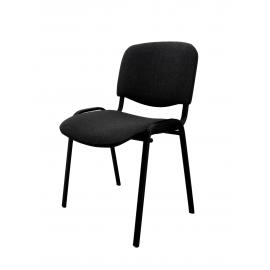 Krzesło konferencyjne ISO materiałowe szare