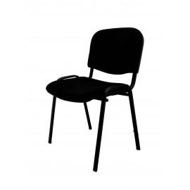 Krzesło konferencyjne ISO materiałowe czarne