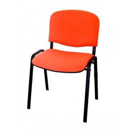 Krzesło konferencyjne ISO materiałowe pomarańczowe