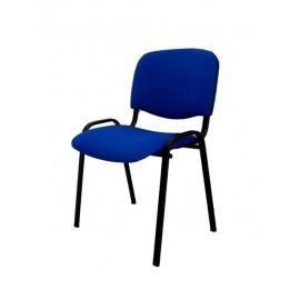 Krzesło konferencyjne ISO materiałowe niebieskie