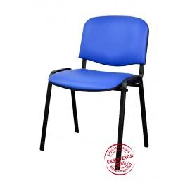 Krzesło konferencyjne ISO skaj niebieskie