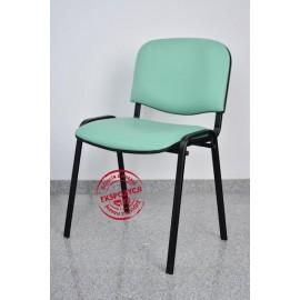 Krzesło konferencyjne ISO skaj zielone