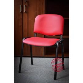 Krzesło konferencyjne ISO skaj czerwone