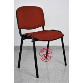 Krzesło konferencyjne ISO skaj brązowe