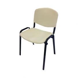 Krzesło konferencyjne ISO plastikowe beżowe