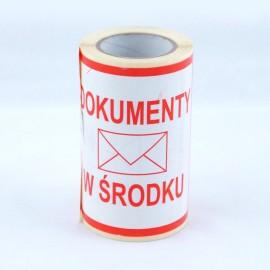 Etykiety samoprzylepne DOKUMENTY 100 szt.