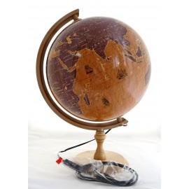 Globus retro żaglowce podświetlany 320mm