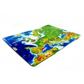 Puzzle mapa Europy fizyczna