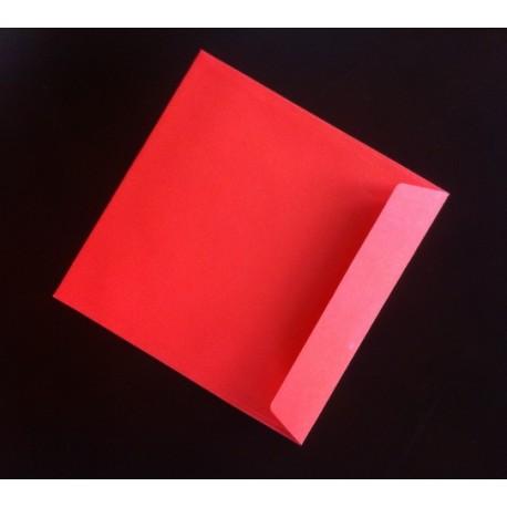 Koperta 150x150 TS czerwona 160g 25szt