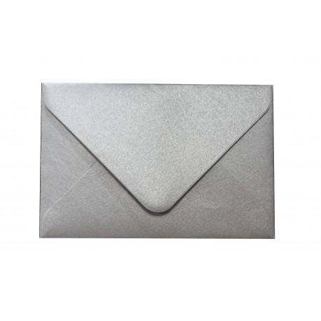Koperta wizytówkowa 60x90 srebrna 25szt