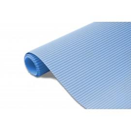 Karton falisty 50x70 niebieski metalik
