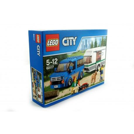 Klocki LEGO van z przyczepką