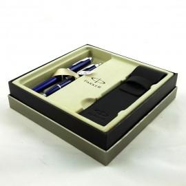 Długopis + pióro w etui PARKER CT niebieski
