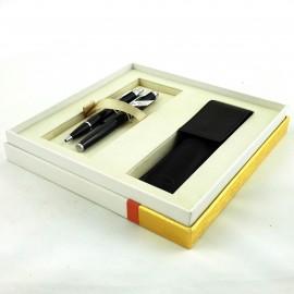 Długopis + pióro w etui PARKER CT czarny