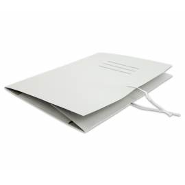 Teczka A4 KIEL-TECH wiązana biała 250g