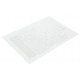 Litery samoprzylepne 10mm białe