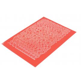 Litery samoprzylepne 10mm czerwone