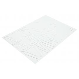 Litery samoprzylepne 50mm białe