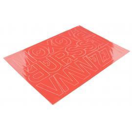 Litery samoprzylepne 50mm czerwone